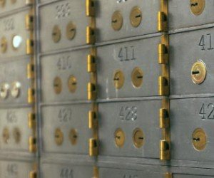 Commercial safety deposit boxes