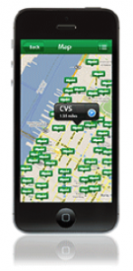 Allpoint map in use on mobile phone