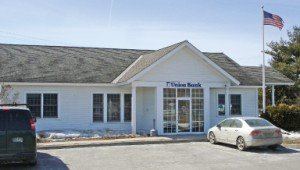 Union Bank branch on Jct. Routes 104 & 128 in Fairfax, VT