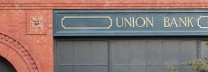 Union Bank branch in a historic red brick building