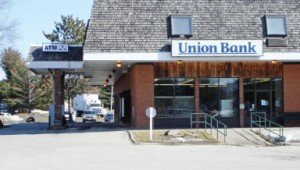 Union Bank branch on Northgate Plaza, Route 100 in Morrisville, VT