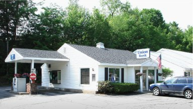 Union Bank branch on 155 Main Street in North Woodstock, NH