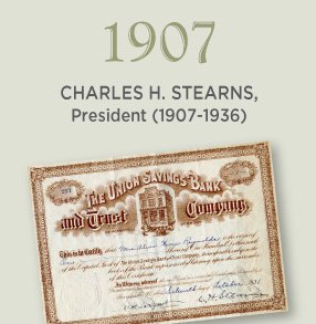 1907. Charles H. Stearns, President (1907-1936)
