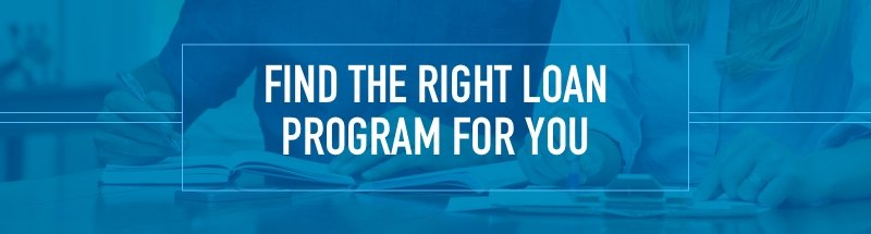 Find the right loan program for you