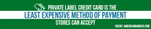 Private label credit cards are the least expensive payment method for merchants.