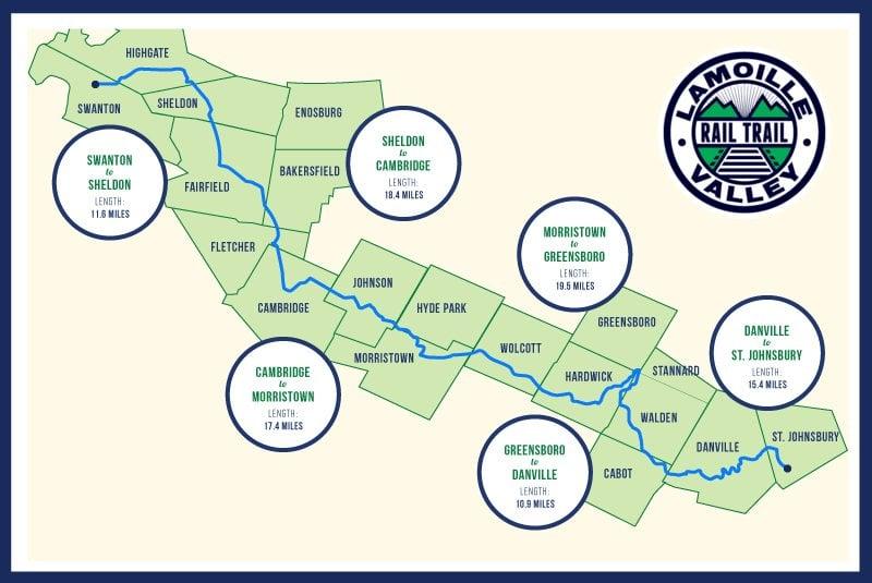 Lamoille Valley Rail Trail Map