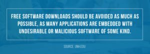 Software downloads should be avoided as much as possible.