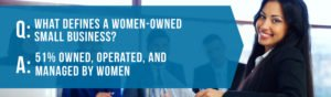 Women-Owned Business - 51% Owned,, Operated, and Managed by Women