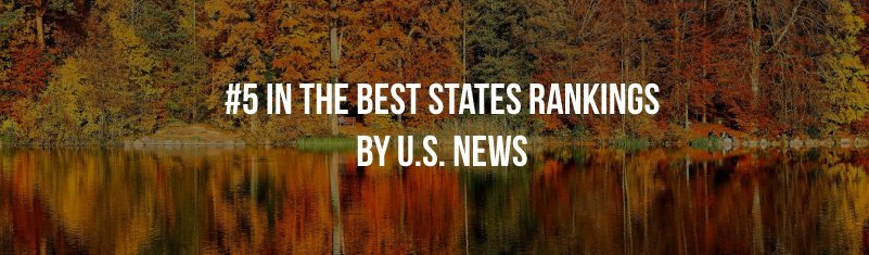 #2 in the best states rankings by US News