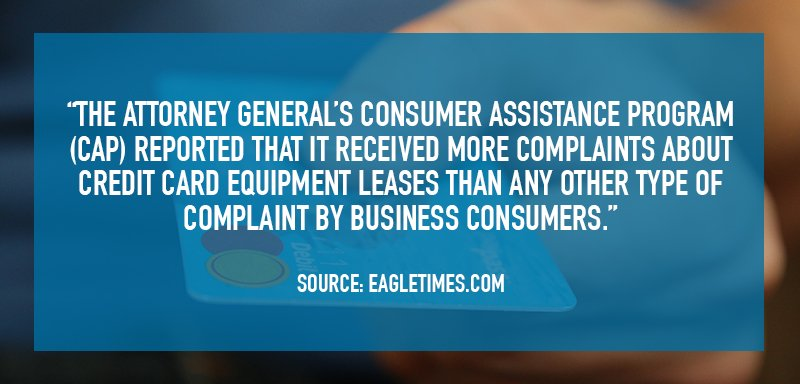 Vermont Attorney General receives more complaints about merchant equipment than anything else