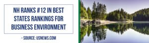 NH ranks #12 in best states rankings for business environment