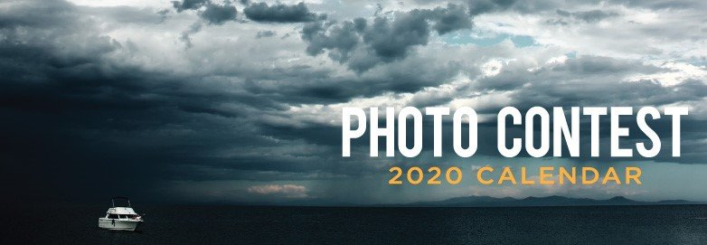 Stormy clouds over lake announcing 2020 Calendar Photo Contest