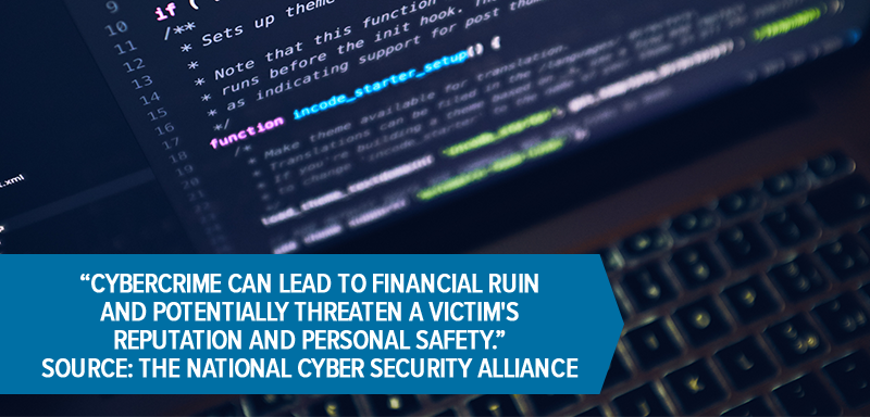 Cybercrime can lead to financial ruin