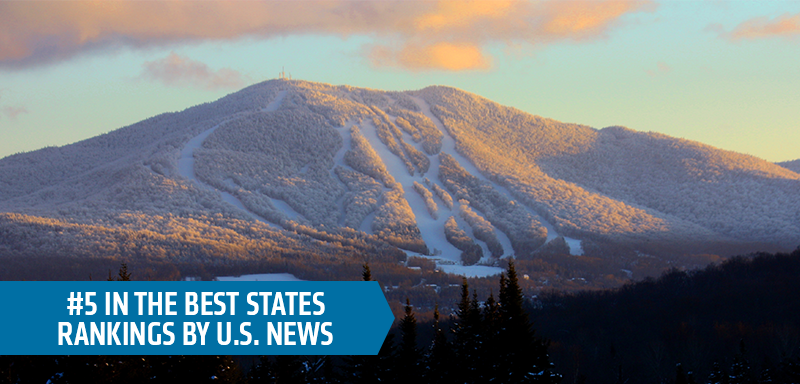 #5 in the best states rankings by U.S. News