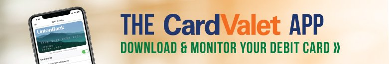 CardValet App / Download and monitor your debit card >