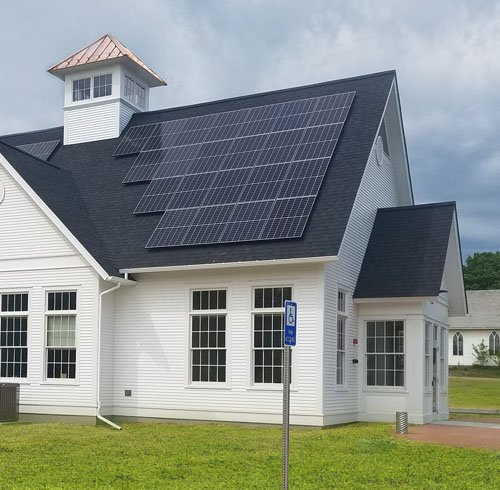 Jericho branch with solar panels
