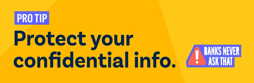Protect your confidential info.