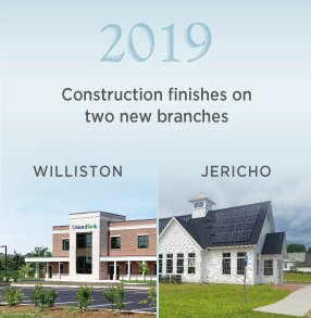 2019: Construction finishes on two new branches